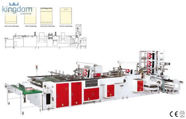 Máquina para fabricar bolsas con manija de plástico
