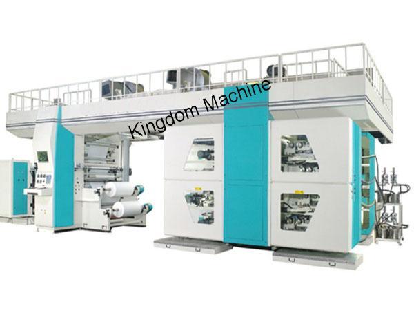 Machine d'impression flexographique à tambour central OPP / BOPP